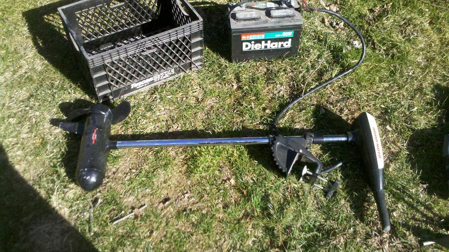 Electric Outboard Engine Minn Kota 3hp Battery For Sale